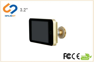 LCD Screen HD Peephole Viewer / Smart Door Peephole Easy Assemble 16mm Thickness